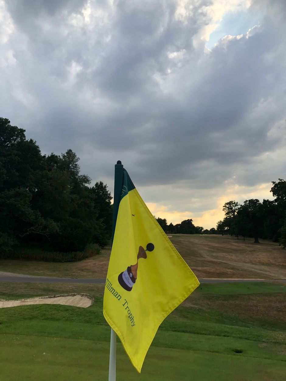 Tillman Trophy Flag - Moor Park 18th Green 2018